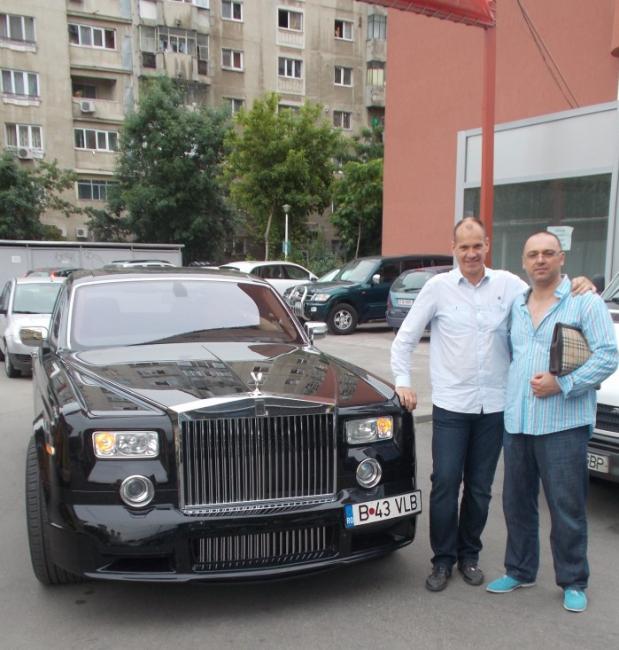 Jan Hooymans , Florea Sorin si una dintre masinile de colectie detinute de catre dl Sorin , un Rolls Royce Phantom Mansory