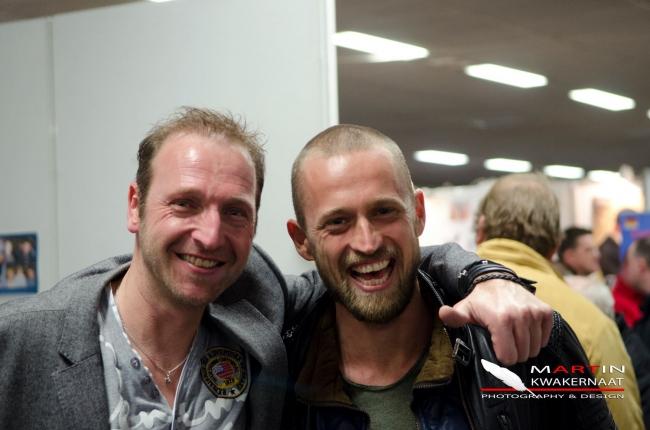 Impreuna cu fratele meu olandez Martin Kwakernaat . Martin este unul dintre cei mai solicitati fotografi columbofili din lume !