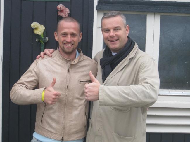 Mihai Dinu impreuna cu Henk Jurriens , general managerul Familiei Eijerkamp