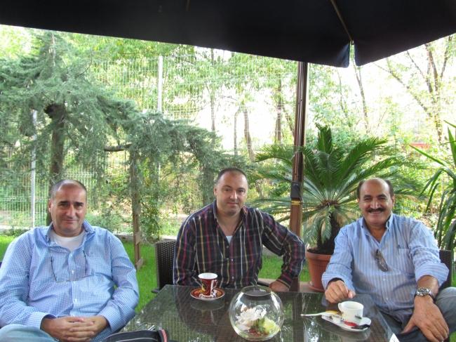 Carlo Luchesse , Florea Sorin si Eros Carboni la birourile D-lui Sorin , Bucuresti 2012