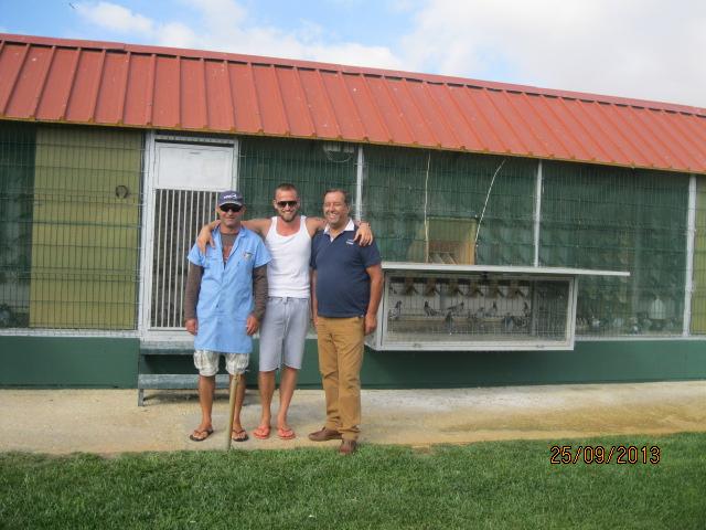 Impreuna cu Rui Emidio ( proprietarul columbodromului ) si Rogerio Germano ( managerul columbodromului )